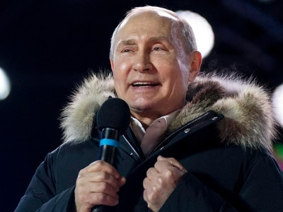 Vladimir Putin wins fourth Russian presidential term with 77% of the vote