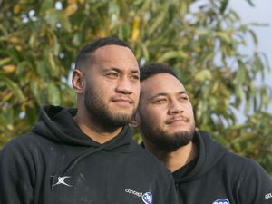 Twins Asher and Amanaki Veamatahau eyeing Peterborough, possibly. (Picture by Adrian Miller, 26433756)