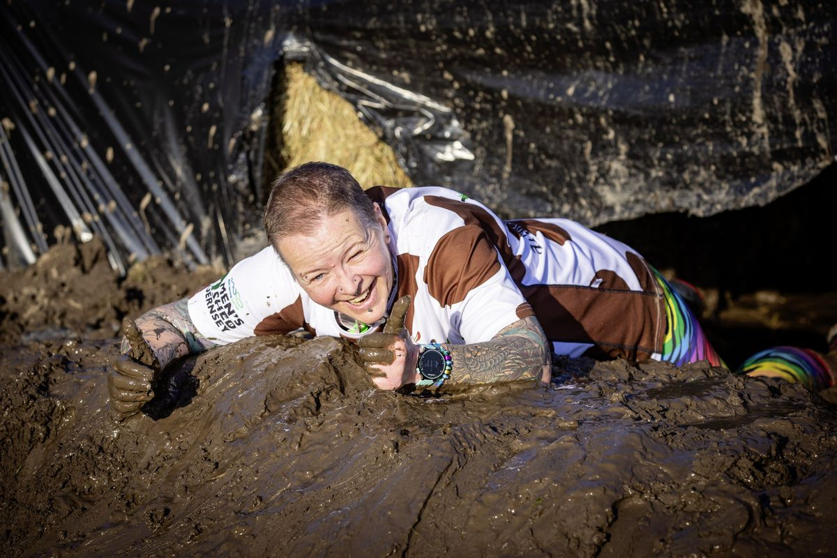 Picture by Sophie Rabey.  29-11-20. Muddy Cow Fun Run Vazon/Grande Mare. Anna Rossler. (28963030)