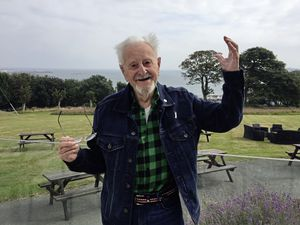 After running into problems with the travel tracker, which he admitted were his fault, partly due to his age, 92-year-old Dennis Boxall said he felt humiliated when he arrived at the airport. (Picture by Helen Bowditch, 29952772)