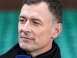 The crazy moment Chris Sutton got flattened by a surprise tackle from fellow pundit Stephen Craigan