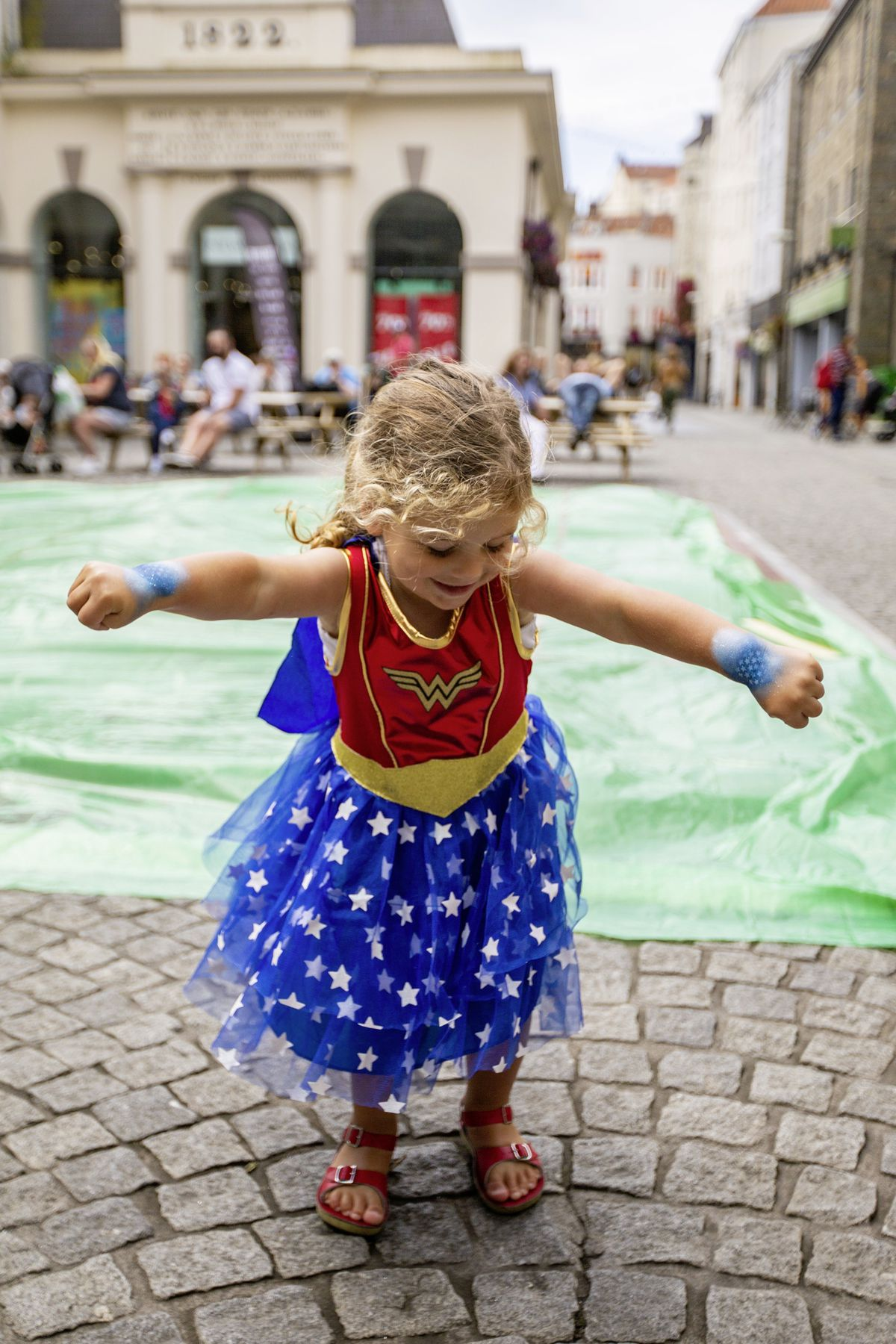 Aurora McConnell, aged 2, dressed as Wonderwoman for the Princesses and Superheros Day. (Picture by Sophie Rabey, 29797233)