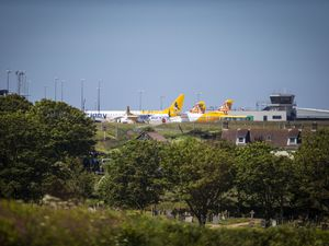 Picture by Sophie Rabey.  20-05-20.  Generic Picture of Guernsey Airport Runway.  Aurigny.  GPweb.. (28603234)