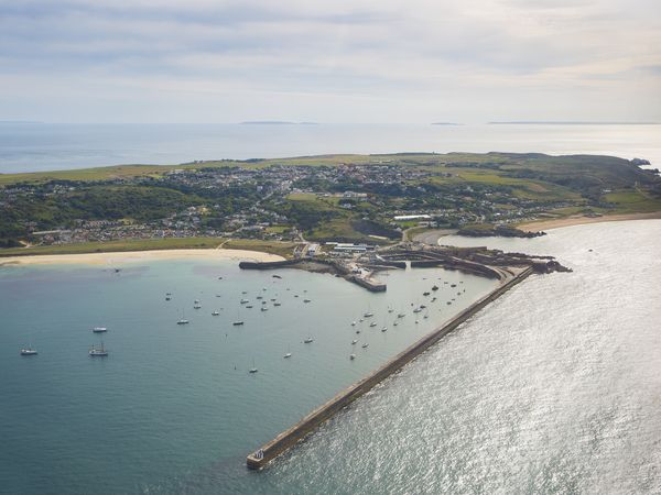 Picture By Peter Frankland. 11-09-18 Generic Alderney aerial pics..Breakwater. (29163834)