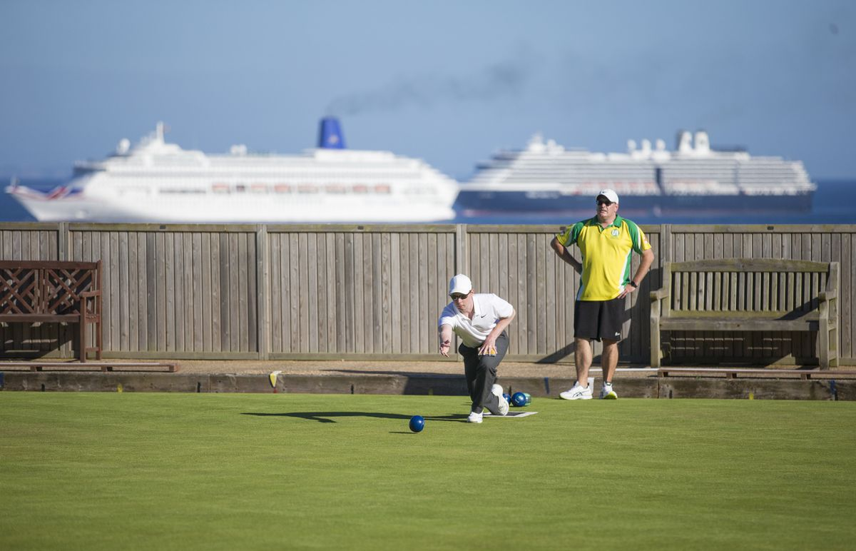 Beauty spot still in danger: Bowls at Delancey where the view makes it one of the most picturesque greens to be found anywhere.(Picture By Peter Frankland, 28361335)