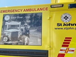 Occupation images on emergency ambulance