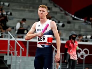 Cameron Chalmers ran the first leg for Great Britain in the mixed 4 x 400 m relay at the Tokyo Olympics. (Pictiure by Athetics Images) (29820588)