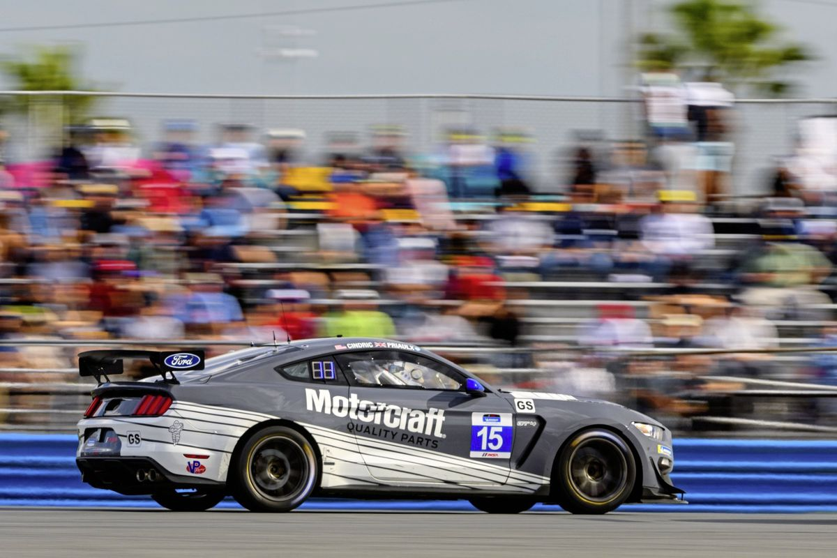 Seb Priaulx in the opening round of the Michelin Pilot Challenge at the Daytona International Speedway in Florida. (Picture from Ford Performance, 27419338)
