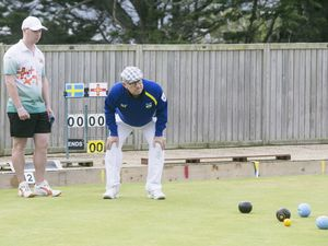 Pic by Adrian Miller 23-09-19   .Delancey Park.European Bowls Championships.Matt Le Ber and Todd Priaulx v Sweden and other stuff .. (25860596)