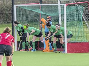 Guernsey prepare to defend a first-half short-corner. (Picture by Ben Fiore)