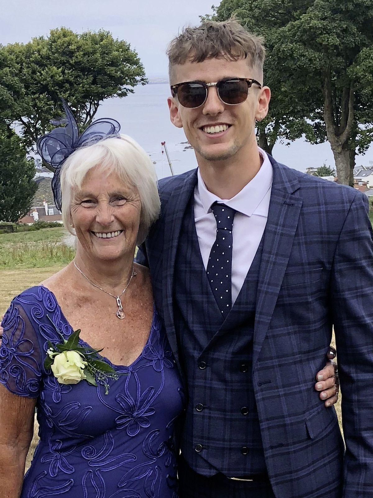 Jacob with his Nan at a family wedding. (28644759)