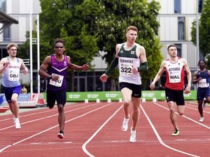 Cameron Chalmers wins the Loughborough International 400m.(Picture by Mark Shearman, 29582103)