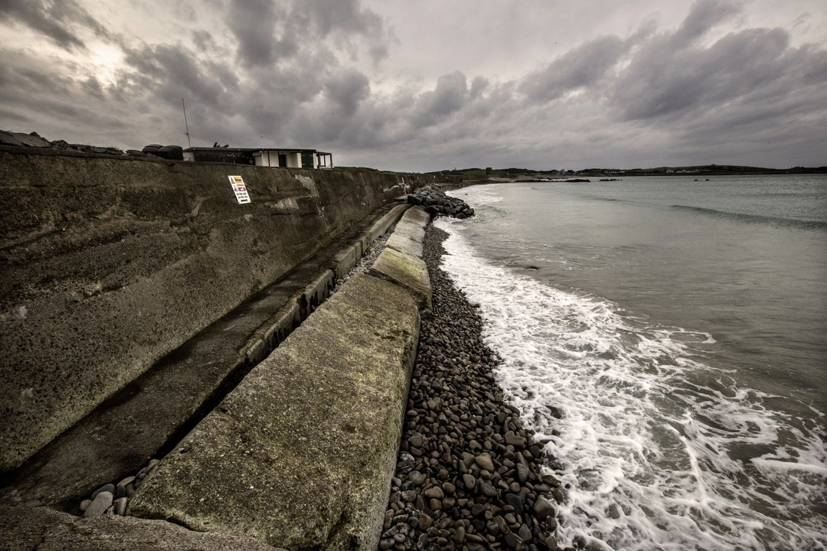 Environment & Infrastructure president Deputy Lindsay de Sausmarez said that the States could not 'just carry on carrying on' dealing with the anti-tank wall at L'Ancresse and that a new approach was required. (Picture by Adrian Miller, 28901622)