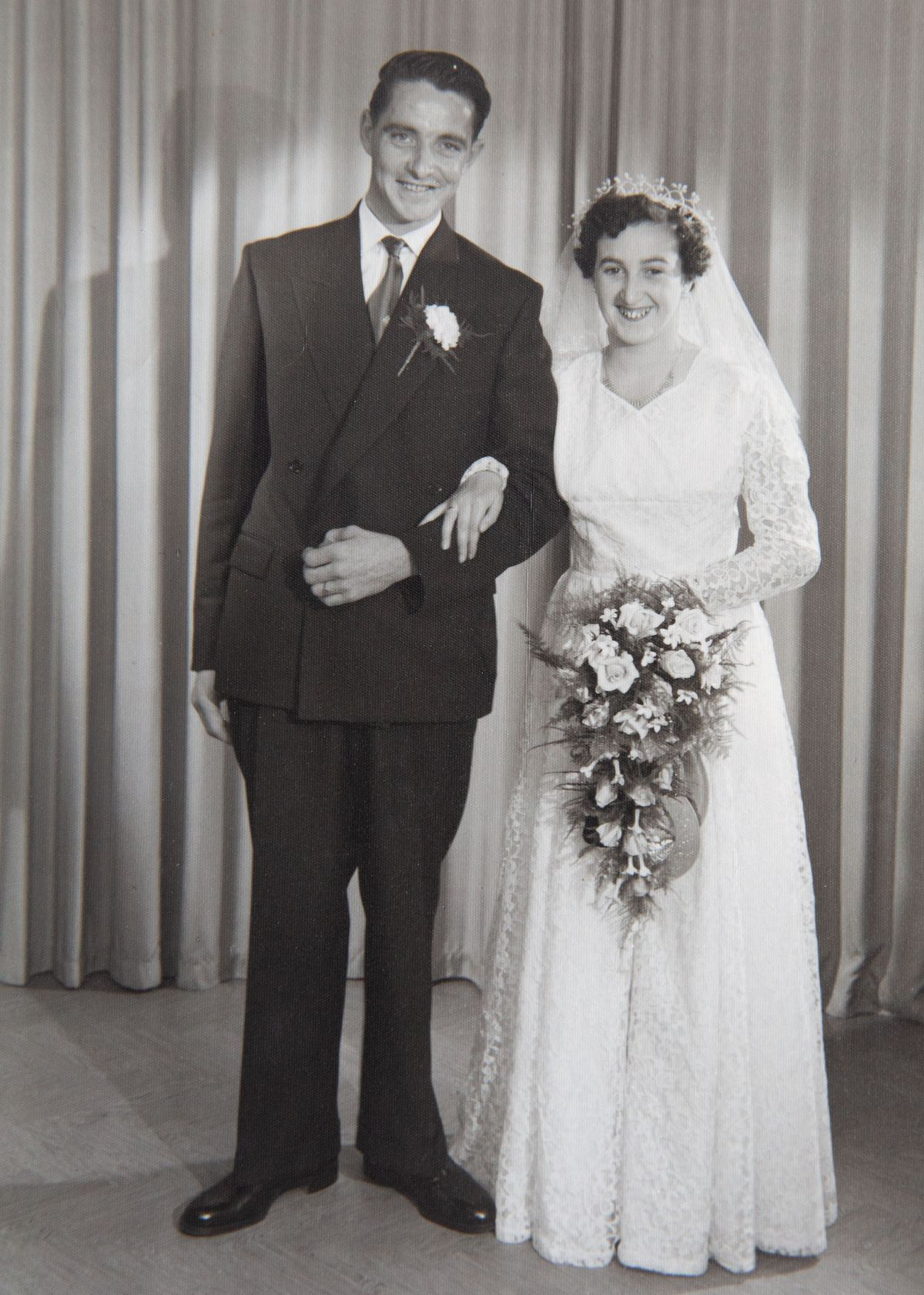 The couple on their wedding day in 1956. (29736003)