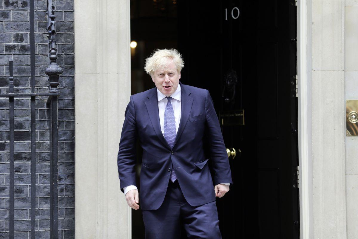 London, United Kingdom - May 28 2021: UK Prime Minister Boris Johnson is seen at 10 Downing Street. (29610875)