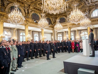 France honours Notre Dame firefighters in day-long tribute