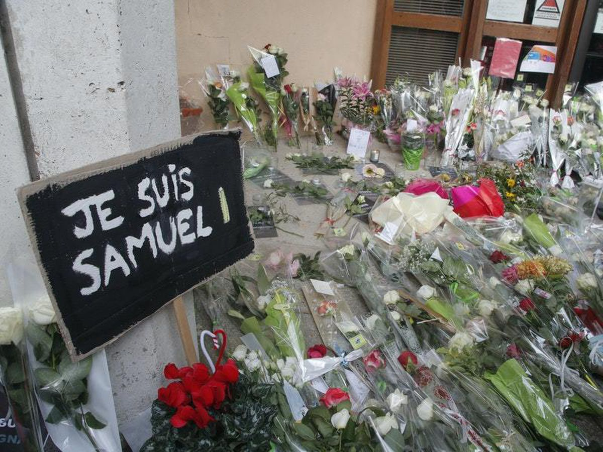 Demonstrations across France to pay tribute to murdered teacher
