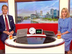 BBC Breakfast stars go 'doolally' after clock mishap