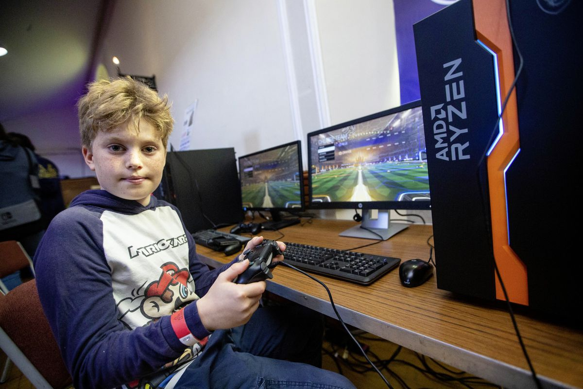 Nathan Harrisson, 9, was hooked on gaming after the first Donkey Con event. (Pictures by Peter Frankland, 30022873)