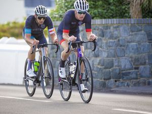 Picture by Sophie Rabey.  08-08-20.  Cycling road race action at L'eree. (28562045)
