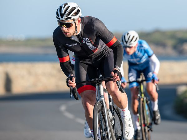 Pic supplied by Andrew Le Poidevin: 25-04-2021. Marc Cox..Guernsey Velo Club Road Race  on the Coudre Circuit.. (29991630)