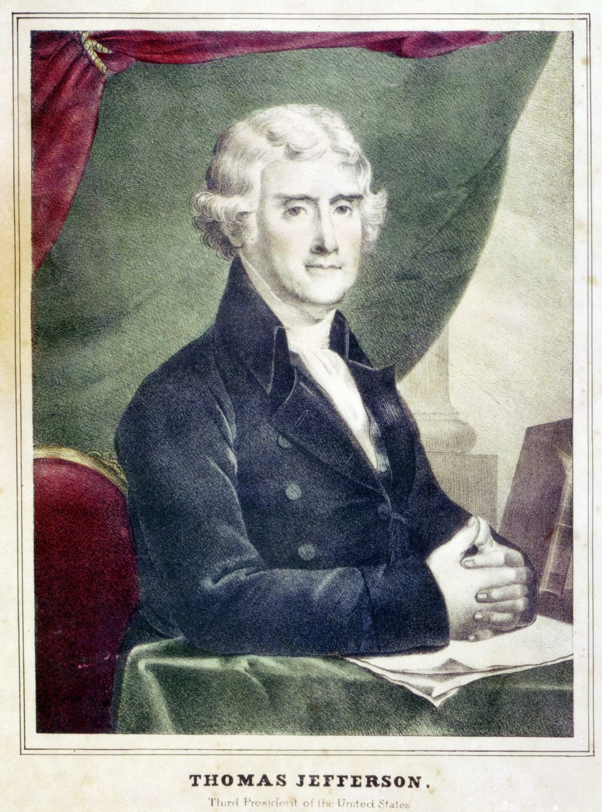 Thomas Jefferson, copy of a painting by Gilbert Stuart. ca. 1805. (Everett Collection/Shutterstock) (28462637)