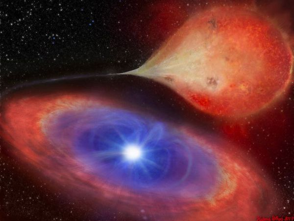 Astronomers see white dwarf 'switch on and off' for the first time