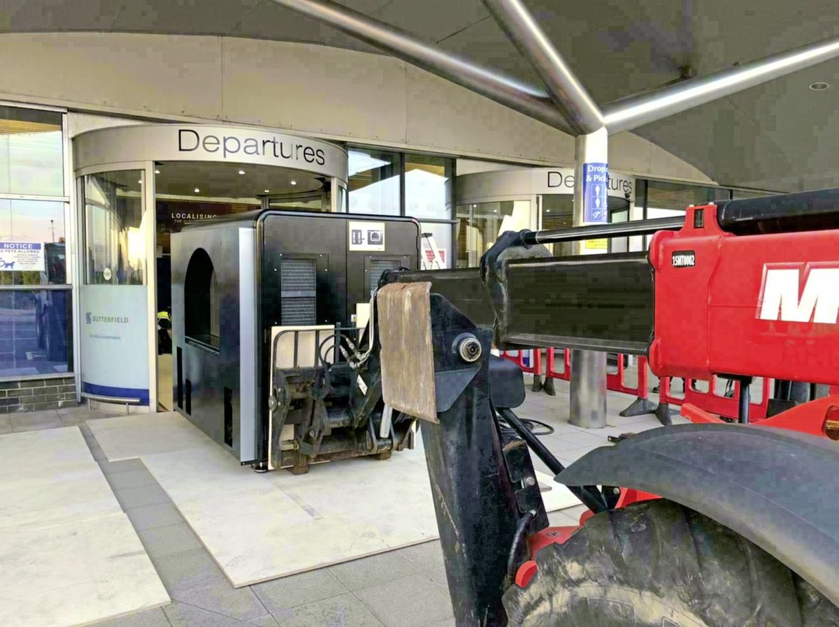 The first of Guernsey Airport's two new baggage scanners has arrived. (Picture supplied by Guernsey Airport)