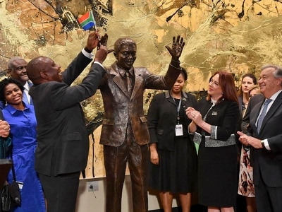 Nelson Mandela statue unveiled at UN