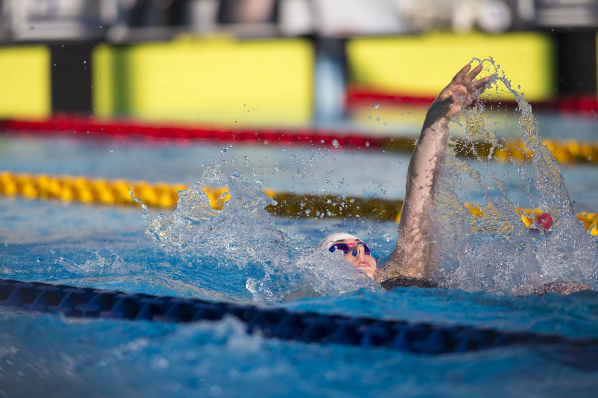 Tatiana Tostevin has broken two of her island backstroke records and earned a place on phase two of the Swim England talent programme. (Picture by Peter Frankland, 26206528)
