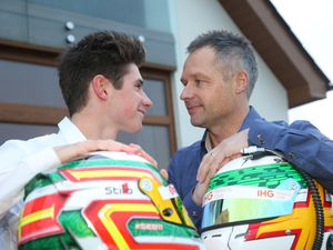 Pic by Adrian Miller 11-12-18      .Father and son Andy and Seb Priaulx at their home in Torteval.Both of them have new racing contracts. (24731156)
