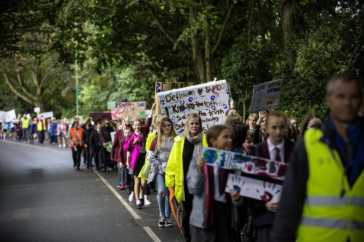 Last Friday's students' march was an inspirational event. (Picture by Peter Frankland, 25913620)