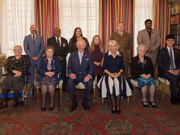 Charles and Camilla launch Royal British Legion's centenary poppy appeal