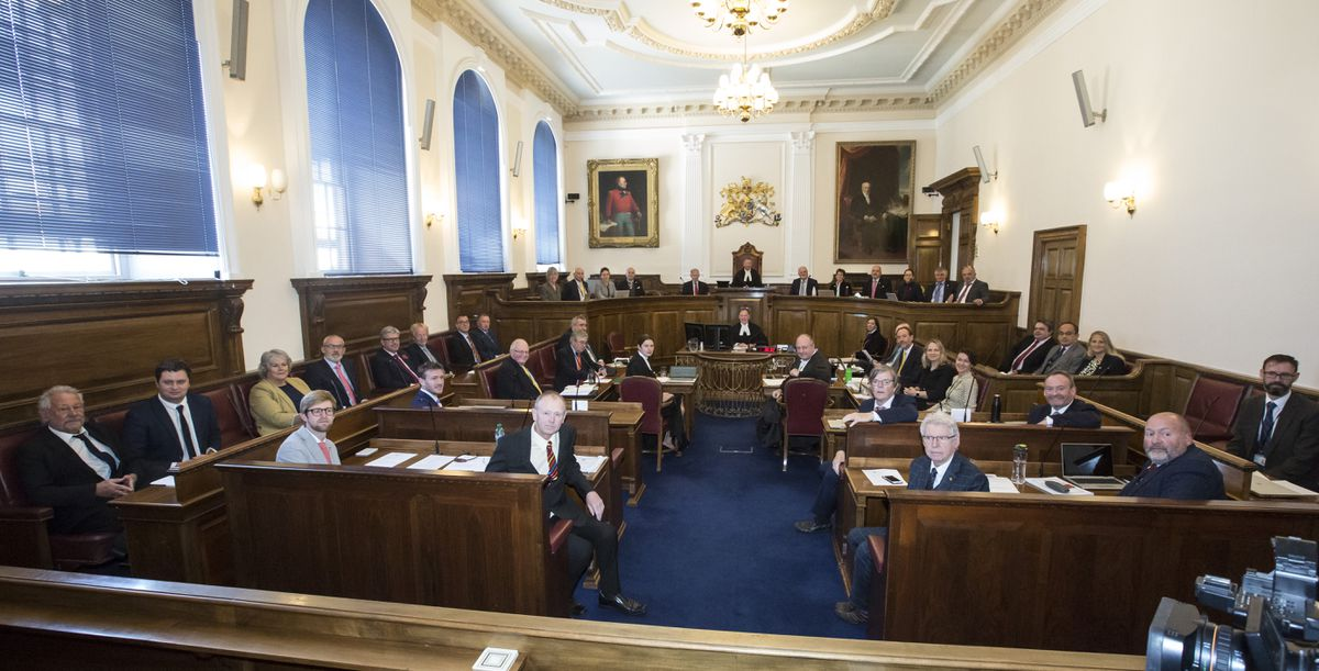 Debate on the Government Work Plan is likely to be delayed until the States can meet in the chamber again. (Picture by Adrian Miller, 29341395)