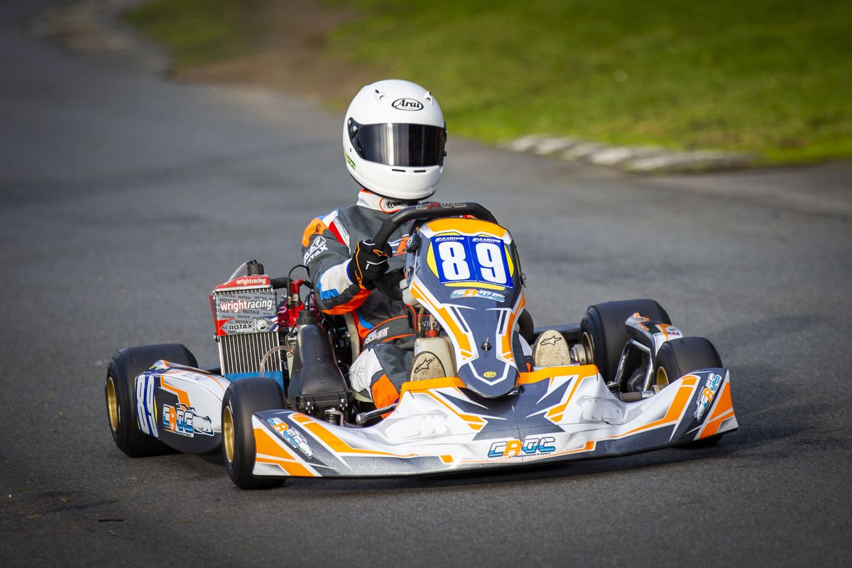 Lewis Wild set a new Senior Max lap record of 22.196sec. at the Track. (Picture by Sophie Rabey, 29244067)