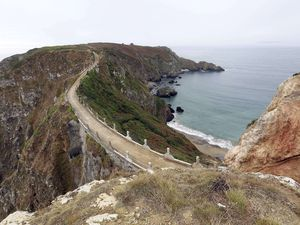 Pic by Adrian Miller 01-10-14.Sark.Chief Pleas and general island shots.La Coupée and Little Sark. (28726830)