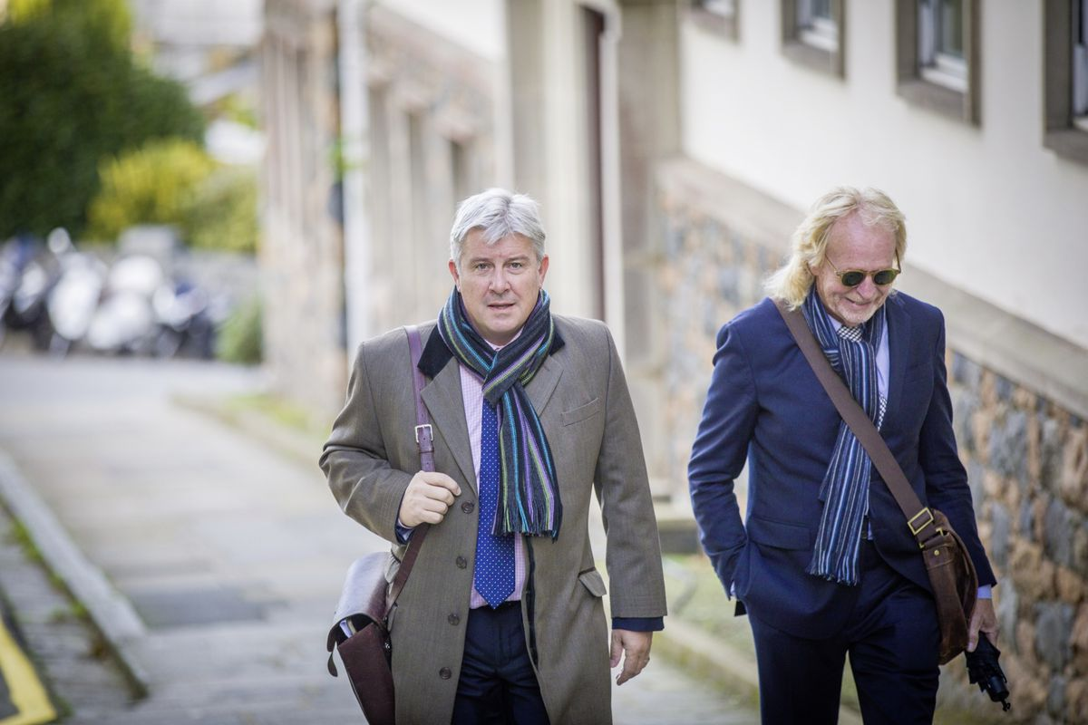 New deputies Mark Helyar and Bob Murray of the Guernsey Party, which achieved a 75% strike rate in the election. (Picture by Sophie Rabey, 28806737)