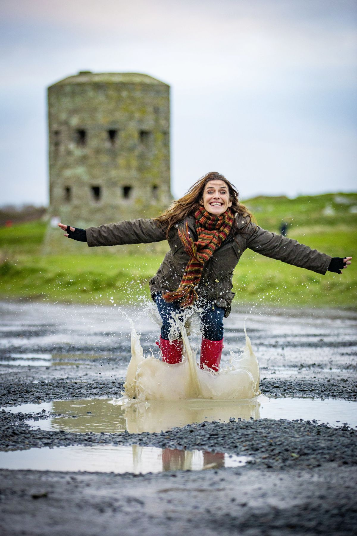 Susie Campanella's fundraising idea is for people all over the world to jump in a puddle and donate £1 to Cancer Research UK. She hopes to raise £1million. (Picture by Sophie Rabey, 29109874)
