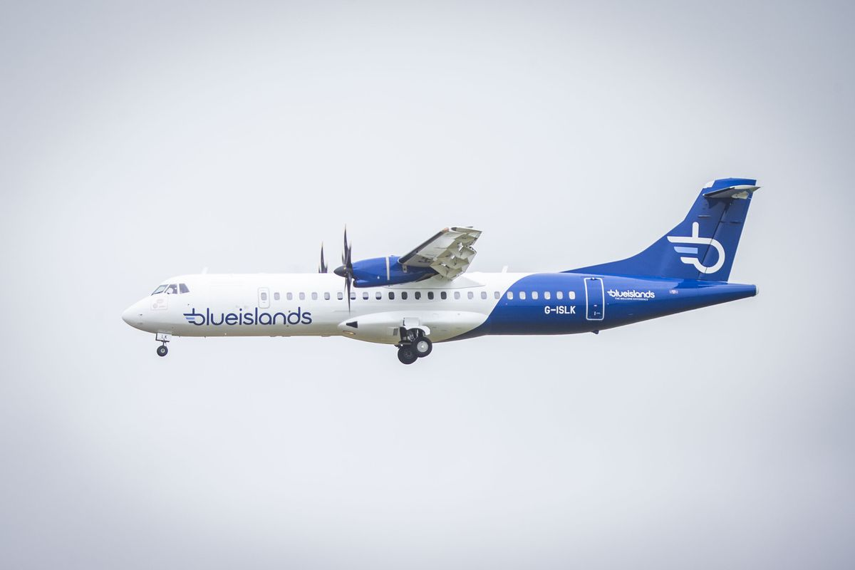 Blue Islands' all-ATR fleet has been rebranded this year. The airline currently flies almost exclusively from Jersey, but is keen to return to the Guernsey to Southampton route.(Picture by Sophie Rabey, 28765108)