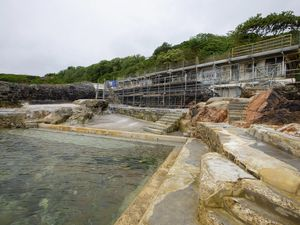 Picture By Peter Frankland. 21-06-21 Updated shots of the work going on at La Vallette bathing pools.. (29678908)