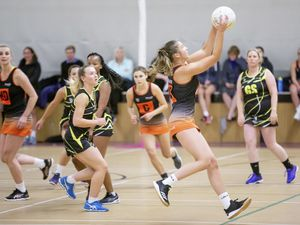Picture by Sophie Rabey.  06-10-20.  First evening of Netball at Grammar School.  Liverte vs Blaze.. (28771091)