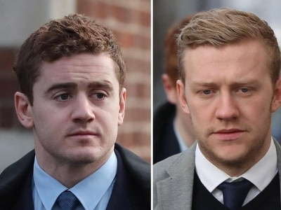 Man accused of naming woman in rugby rape trial stays away from court
