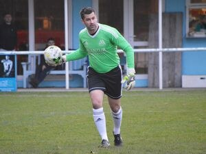 Manzur's new keeper: Chris Tardif making his return to action this week following his broken leg.     (Picture by Gareth Le Prevost, (21120460)