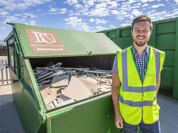 A recent survey of more than 1,000 homes in Castel and St Peter Port found more than 95% of households are now regular users. Ben Henry is the waste prevention and recycling officer. (Picture by Sophie Rabey, 28828662)