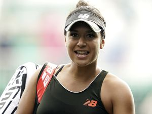 Great Britain's Heather Watson celebrates after victory against Tara Moore during day five of the Viking Open at Nottingham Tennis Centre. Picture date: Wednesday June 9, 2021.. (29638318)