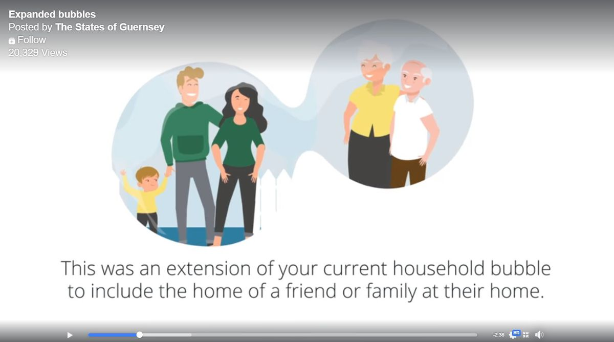 The States have released a video explaining the expansion of household bubbles as Guernsey progresses through lockdown exit strategy phases. (28289947)