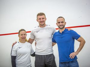 Left to right: Claire Luvin, James Jones and Philippos Toumazou. (Picture By Sophie Rabey, 29882382)