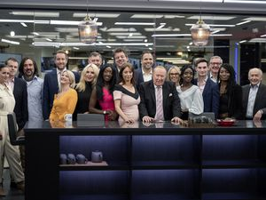 Undated handout photo issued by GB News of presenters (left to right) Kirsty Gallacher, Andrew Doyle, Neil Oliver, Darren McCaffrey, Alex Phillips, Rebecca Hutson, Simon McCoy, Nana Akua, Liam Halligan, Gloria De Piero, Dan Wootton, Andrew Neil, Michelle Dewberry, Mercy Muroki, Tom Harwood, Colin Brazier, Inaya Folarin Iman, Alastair Stewart. GB News launches on Sunday evening with a special programme called Welcome To GB News. Issue date: Sunday June 13, 2021. (29721452)