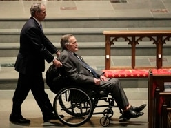 George H W Bush 'alert and out of intensive care'