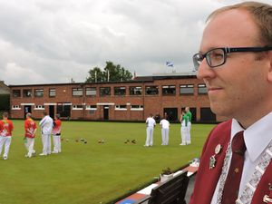 Big player in World Bowls: Garry Collins has his hands full on both the local and overseas scene.